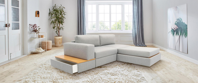 Image of 170QM Sofa »Familienzeit«, Modulsofa, Module auch einzeln, unendlich erweiterbar, flexibel stellbar