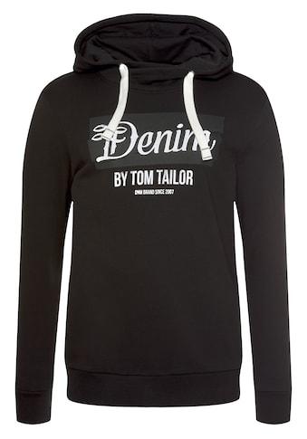 TOM TAILOR Denim Kapuzensweatshirt, mit grossem Logo-Print kaufen
