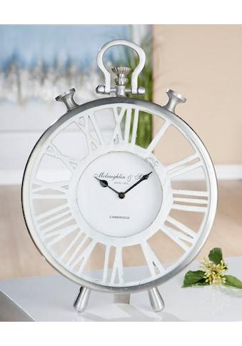 GILDE Standuhr »Uhr Atona«, Höhe 42 cm, rund, römische Ziffern, ideal im Esszimmer & Wohnzimmer kaufen