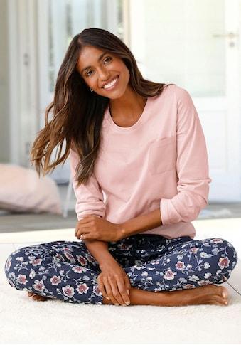 Vivance Dreams Pyjama, mit gemusterter Schlafhose kaufen