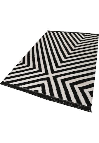 carpets&co Teppich »Edgy Corners«, rechteckig, 5 mm Höhe, Wohnzimmer kaufen