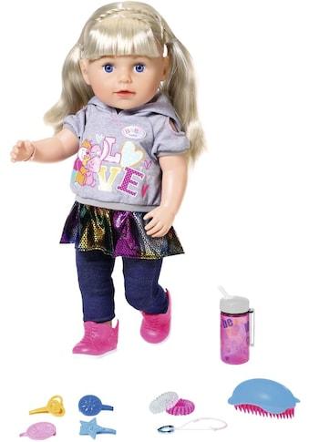 Baby Born Babypuppe »Soft Touch Sister 43 cm, blond«, interaktiv kaufen