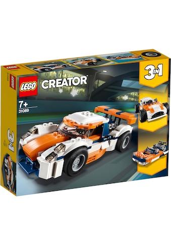 LEGO® Konstruktionsspielsteine »Rennwagen (31089), LEGO® Creator«, (221 St.), Made in Europe kaufen