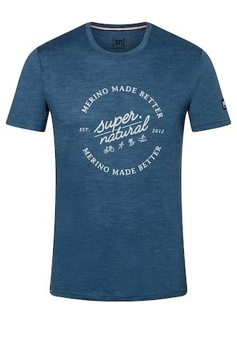 SUPER.NATURAL T-Shirt »M BETTER TEE«, toller Merino-Materialmix kaufen