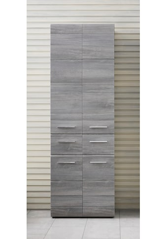 trendteam Hochschrank »Skin«, Höhe 182 cm, Badezimmerschrank mit Fronten in Hochglanz-... kaufen