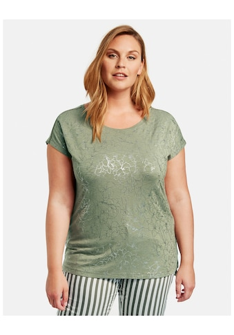 Samoon T - Shirt Kurzarm Rundhals »T - Shirt mit Folienprint« kaufen
