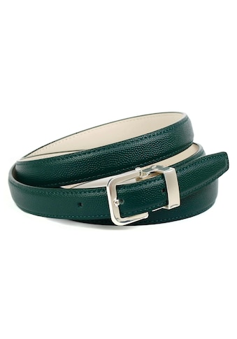 Anthoni Crown Ledergürtel, mit hochwertiger Dornschliesse in dunkelgrün kaufen