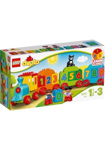 LEGO® Konstruktionsspielsteine »Zahlenzug (10847), LEGO® DUPLO®«, (23 St.), Made in Europe kaufen