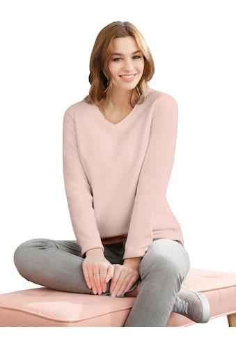 Classic Basics Fleece - Shirt mit V - Ausschnitt kaufen