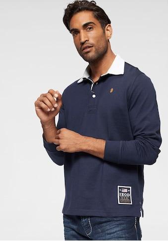 IZOD Poloshirt, Logo-Applikation am Saum. kaufen