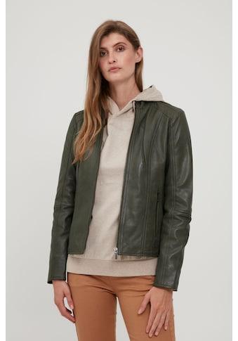 fransa Lederjacke »FRBALEATHER 1 Jacket 20609589«, Tolle Lederjacke mit schmaler Passform kaufen