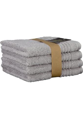 Cawö Waschlappen »Minis Uni«, (Packung, 4 tlg., 4tlg.), mit dezenter Bordüre kaufen