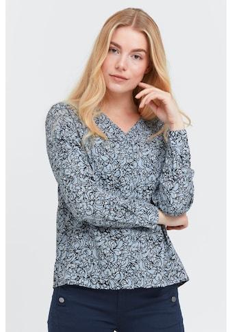 fransa Langarmbluse »Fransa Bluse Langarm mit Allover Print«, Langarm Bluse mit Print kaufen