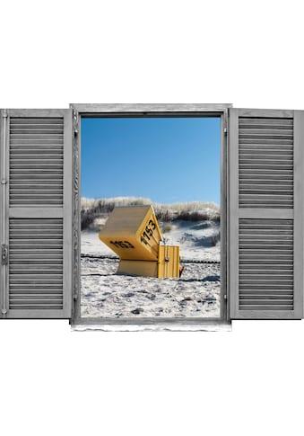 queence Wandtattoo »Strandkorb« (1 Stück) kaufen