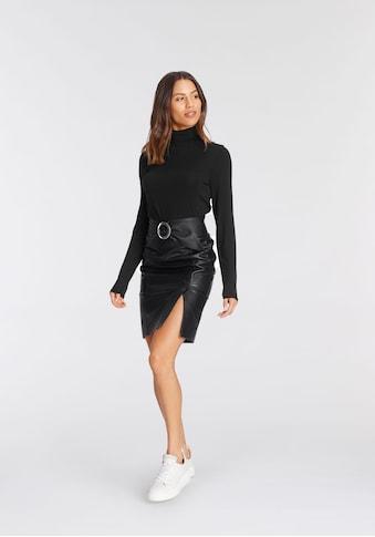Tamaris Lederrock, mit Seitenschlitz -NEUE KOLLEKTION kaufen