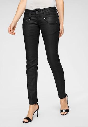 Herrlicher Slim-fit-Jeans »PITCH SLIM«, in Leder-Optik kaufen