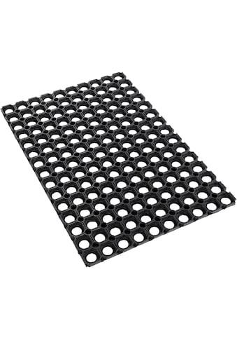 Fussmatte, »Gummi Ringmatte«, Andiamo, rechteckig, Höhe 15 mm, maschinell zusammengesetzt kaufen