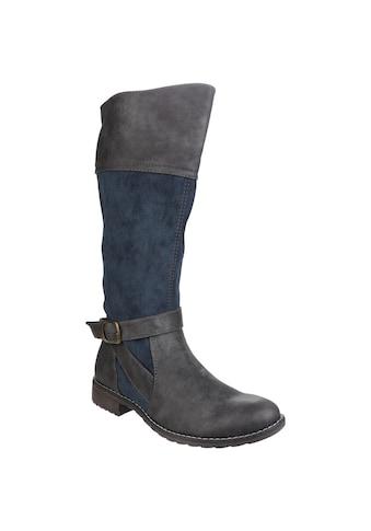 Divaz Stiefel »Damen Garbo mit Reissverschluss und Kontrast-Details« kaufen