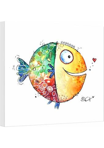 Wall-Art Leinwandbild »Hagenmeyer - Happy Fish«, 40/40 cm kaufen