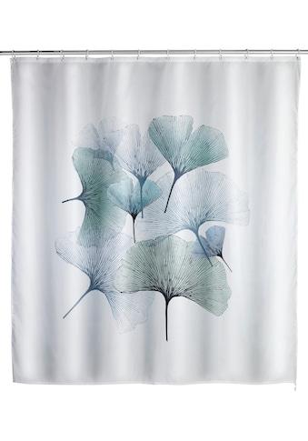 WENKO Duschvorhang »Ginko«, Breite 180 cm, Höhe 200 cm, Textil (Polyester) kaufen