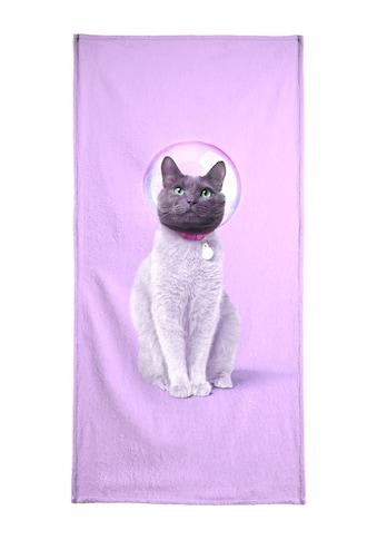 Juniqe Strandtuch »Space Cat«, (1 St.), Weiche Frottee-Veloursqualität kaufen