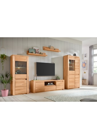 Premium collection by Home affaire Wohnwand »Burani«, (Set, 4 St.), teilmassives Holz kaufen