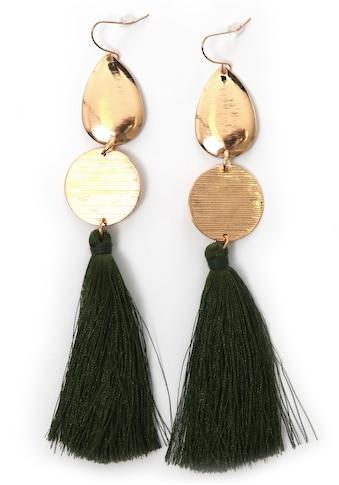 J.Jayz Paar Ohrhaken »vergoldfarbenet und mit grüne Quasten« kaufen
