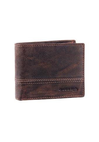 GreenLand Nature Geldbörse »Classic«, aus Leder mit Ziernaht im Querformat kaufen