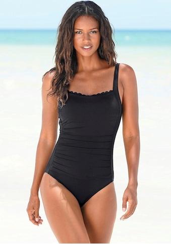 LASCANA Badeanzug »Scallop«, mit Wellenkante und Shaping-Effekt kaufen