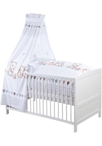 Himmelbettgarnitur »Schmusebär«, Zöllner, passend für Kinderbetten (Set, mit Bettwäsche, Nestchen und Himmel  -  ohne Bettgestell und Steppbett!) kaufen