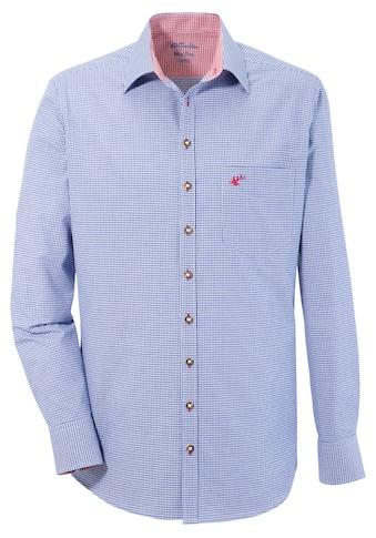 OS - Trachten Trachtenhemd in modischer Vichy Karo - Optik kaufen
