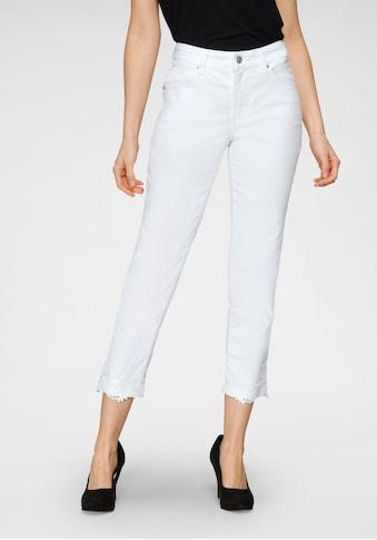 MAC Ankle-Jeans »Melanie Lace«, Aufwendige Spitze am Saum kaufen