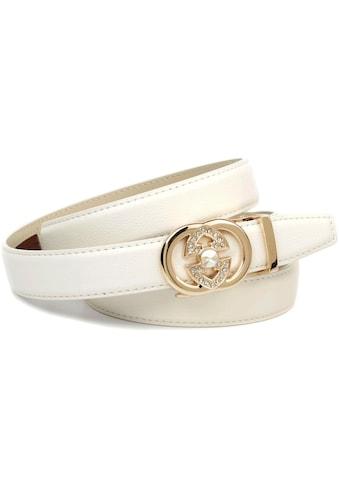 Anthoni Crown Ledergürtel, Eleganter Klassiker in schwarz kaufen