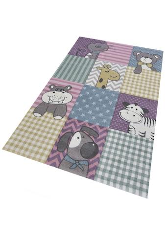 Kinderteppich, »Pastel Kids 21906«, merinos, rechteckig, Höhe 13 mm, maschinell gewebt kaufen
