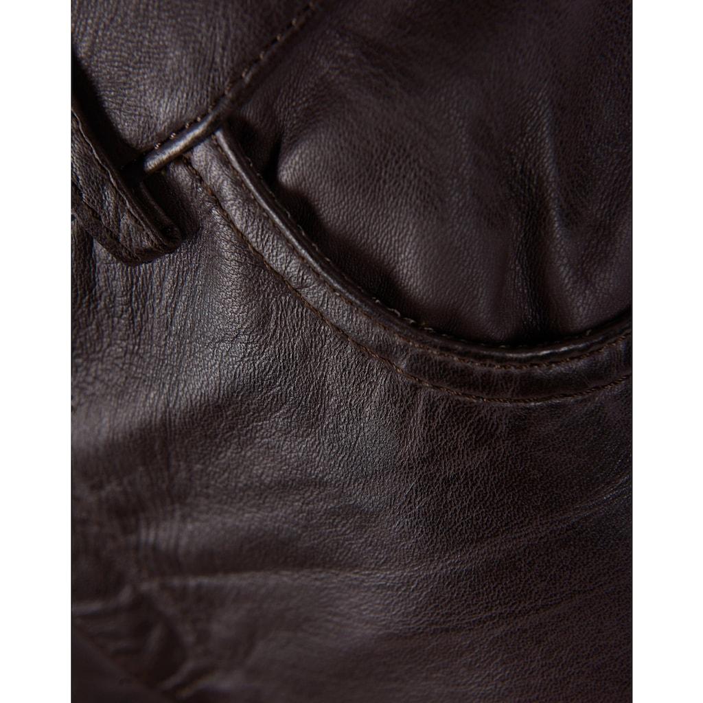 JCC Lederhose mit Reissverschluss am Beinabschluss