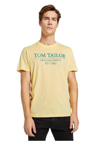 TOM TAILOR Rundhalsshirt, mit grossem Logofrontprint kaufen