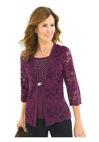 Lady Shirt mit Glitzersteinchen kaufen
