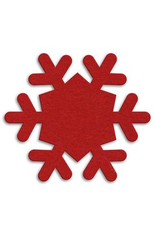 Tischdecke, »Runde Filzdecke Schneeflocken«, Wall - Art (1 - tlg.) kaufen