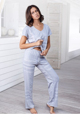 s.Oliver Bodywear Pyjama, mit Allover-Druck kaufen