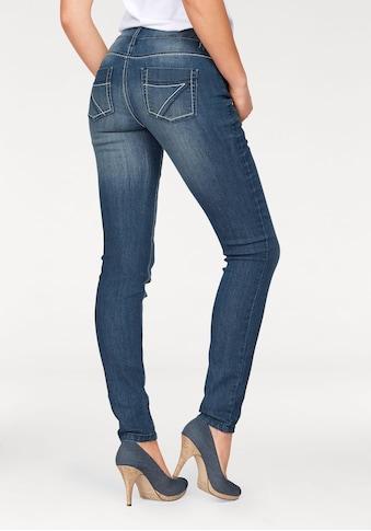 Arizona Slim-fit-Jeans »mit Kontrastnähten«, Mid Waist kaufen