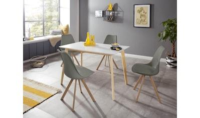 INOSIGN Esszimmerstuhl »Lazio«, 2er Set, aus einem schönen Metallgestell in Holzoptik, in unterschiedlichen Trendfarben erhältlich kaufen