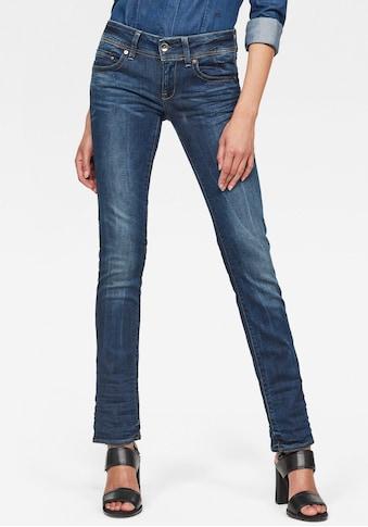 G-Star RAW Straight-Jeans »Midge Saddle Straight«, 5-Pocket-Design mit markanten Steppnähten kaufen