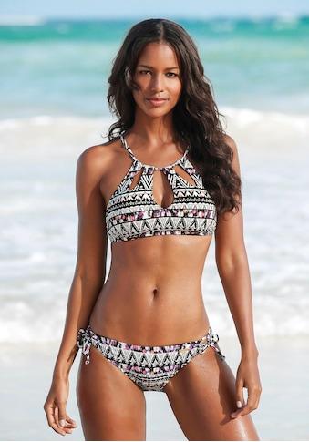 LASCANA Bustier-Bikini-Top »Belize«, mit Zierperlen kaufen