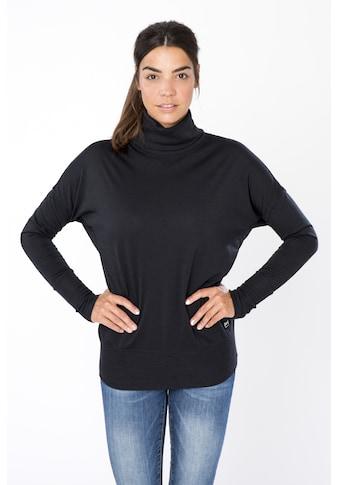 SUPER.NATURAL Sweatshirt »W SKIING TURTLE«, gerippter Rollkragen, feinster... kaufen