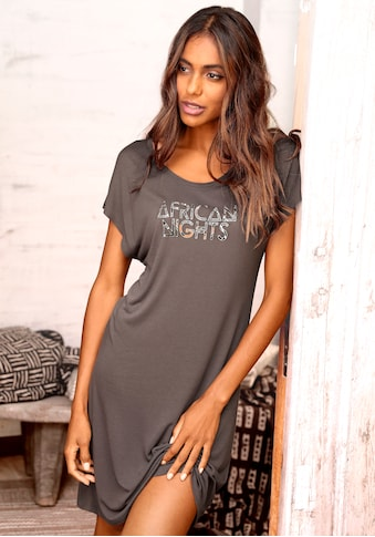 LASCANA Nachthemd, mit leicht überschnittenen Schultern kaufen
