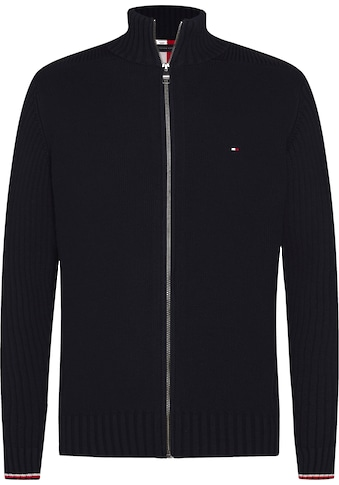 TOMMY HILFIGER Strickjacke »BOLD STRUCTURE ZIP THROUGH« kaufen