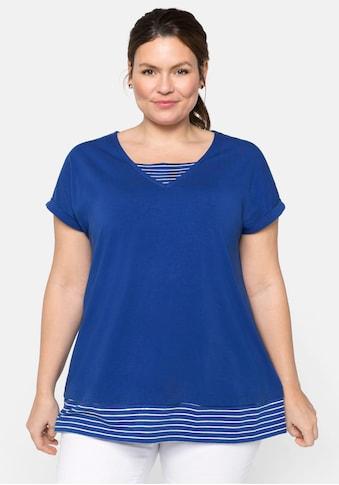 Sheego 2-in-1-Shirt, mit Streifen kaufen