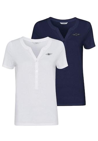 TOM TAILOR Polo Team Blusenshirt, im attraktiven Doppelpack - ein Must-Have-Basic kaufen