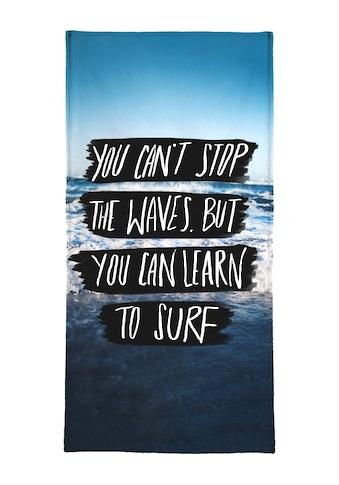 """Strandtuch """"Learn to Surf"""", Juniqe kaufen"""