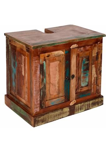 SIT Waschbeckenunterschrank »Riverboat«, aus recyceltem Altholz, Shabby Chic, Vintage kaufen